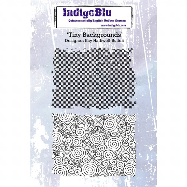IndigoBlu Rubber Stamp Tiny Backgrounds